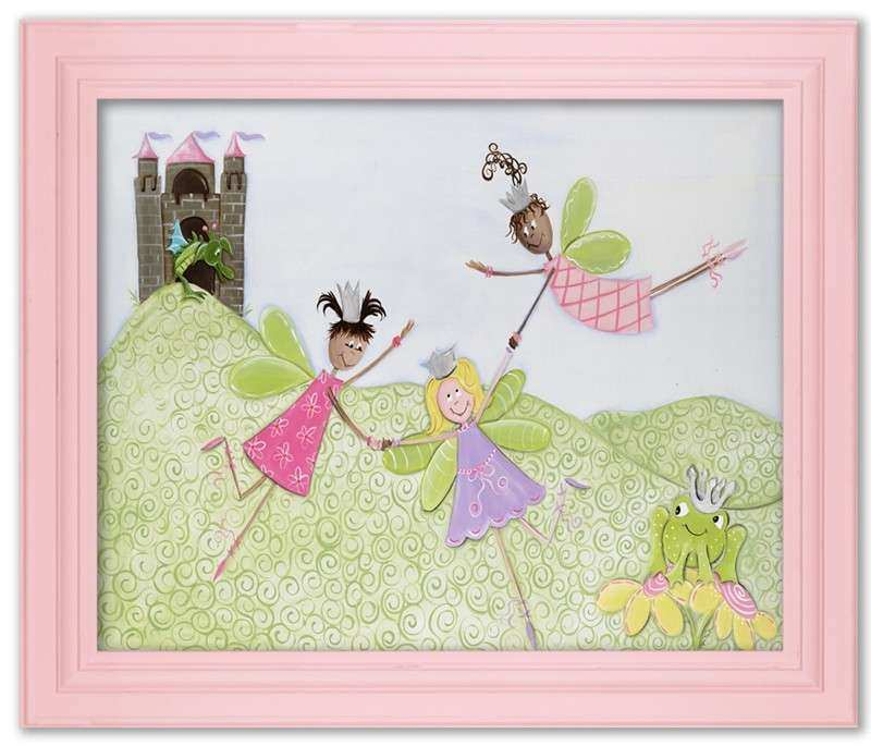Princess Picnic Framed Canvas Reproduction by Doodlefish