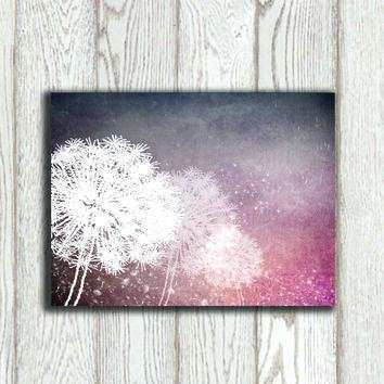Purple and Grey Wall Art Lovely Purple Abstract Wall Art Dandelion ...