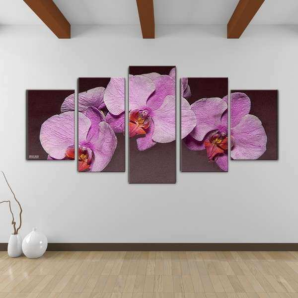 Purple Canvas Wall Art Fresh Bruce Bain Purple orchid Canvas Wall Art 5 Piece Set