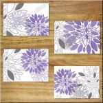 Purple Canvas Wall Art Unique Kitchen 5 Purple Piece Floral Canvas Wall Art