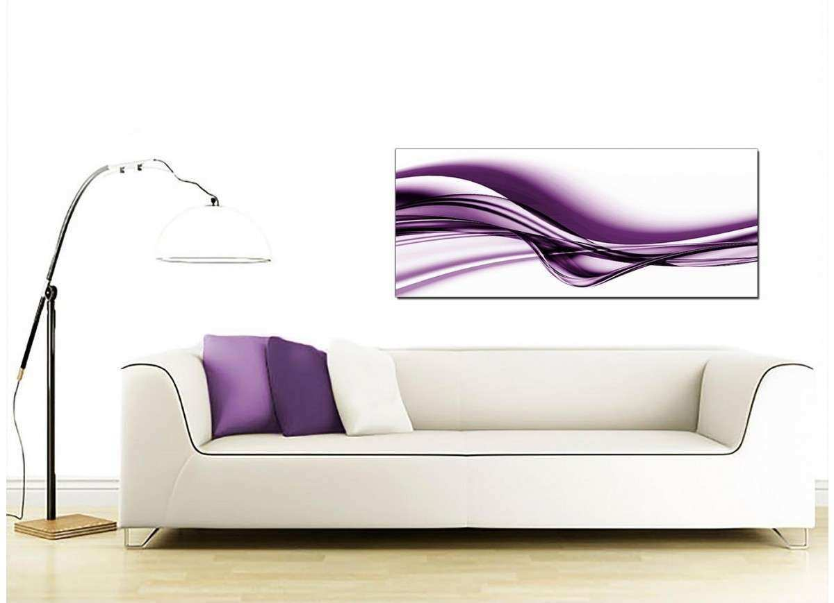 Purple Abstract Canvas Wall Art 120cm x 50cm Elict
