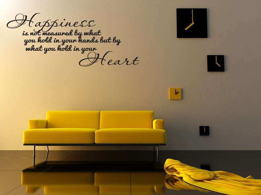 Quote Wall Decor Beautiful Happiness Home Bedroom Decor Vinyl Wall ...
