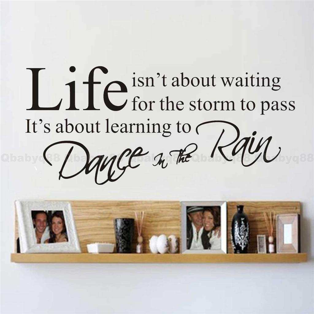 Life Wall Quotes decals Removable stickers decor Vinyl art