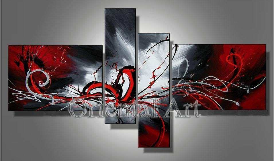 Huge Modern Abstract on Canvas Oil Painting Art frame