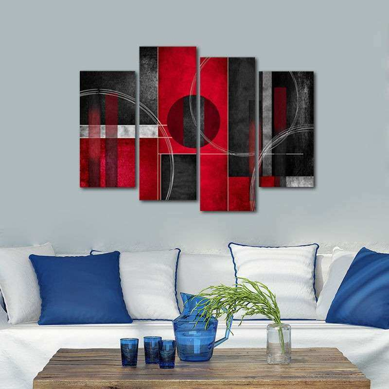 Framed Abstract Canvas Print Home Decor Wall Art Painting