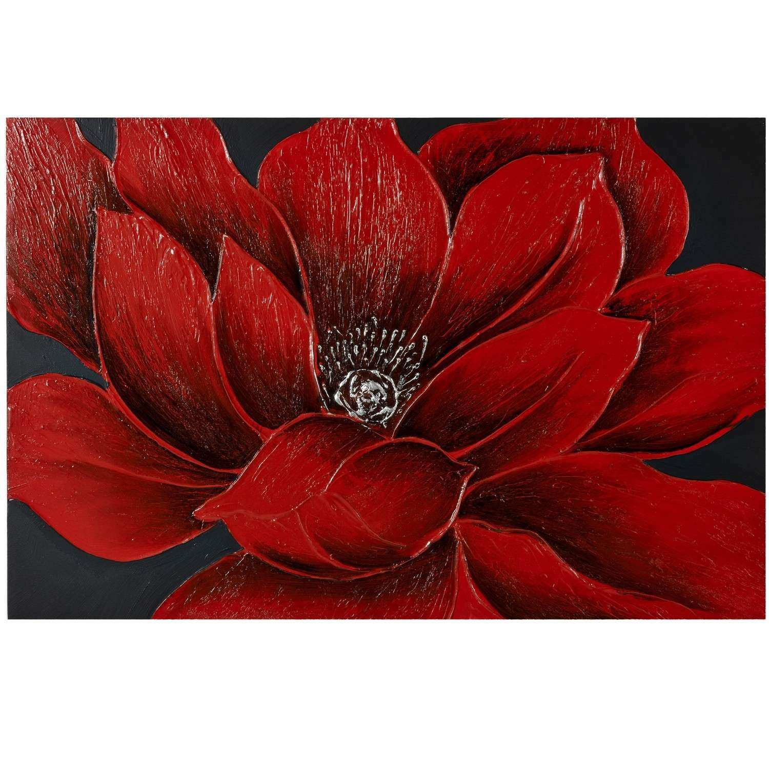 Wall Art Beautiful About Red Flower Canvas Wall