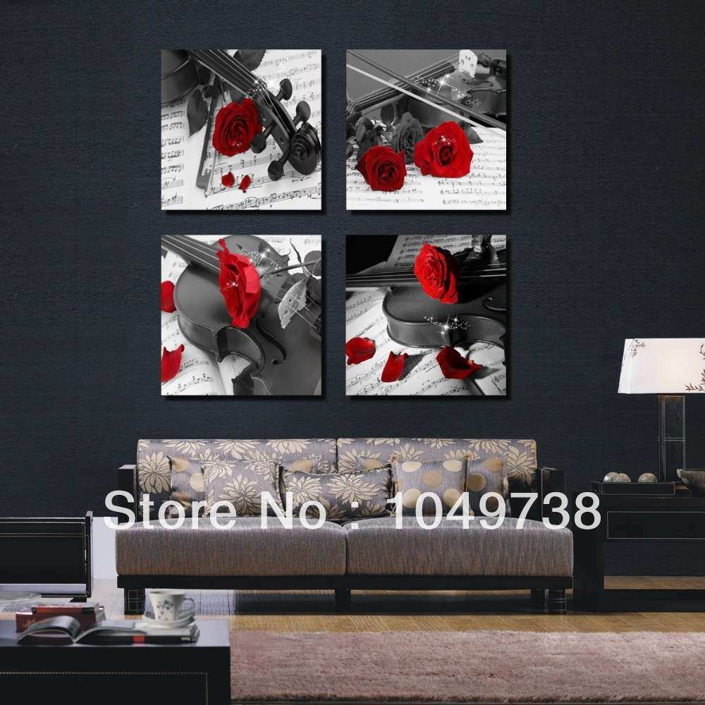 Red And Black Metal Wall Art