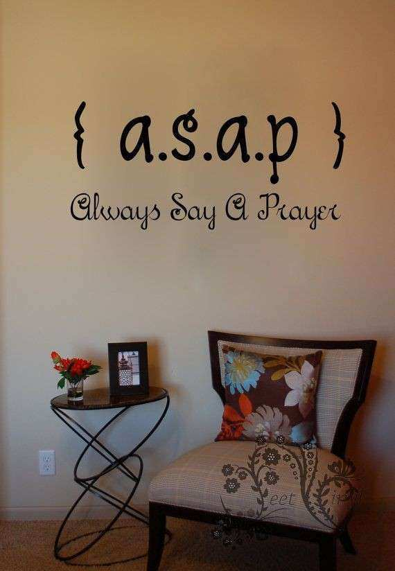 Religious Wall Art Fresh Asap Always Say A Prayer Wall Decals Wall Vinyl  Wall