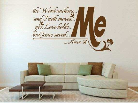 Perfect Religious Wall Art Lovely Religious Quotes Wall Decals Quotesgram