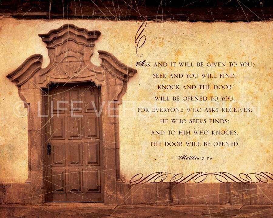 Religious Wall Decor Unique Bible Verse Wall Art Religious Art Ask Seek  Knock