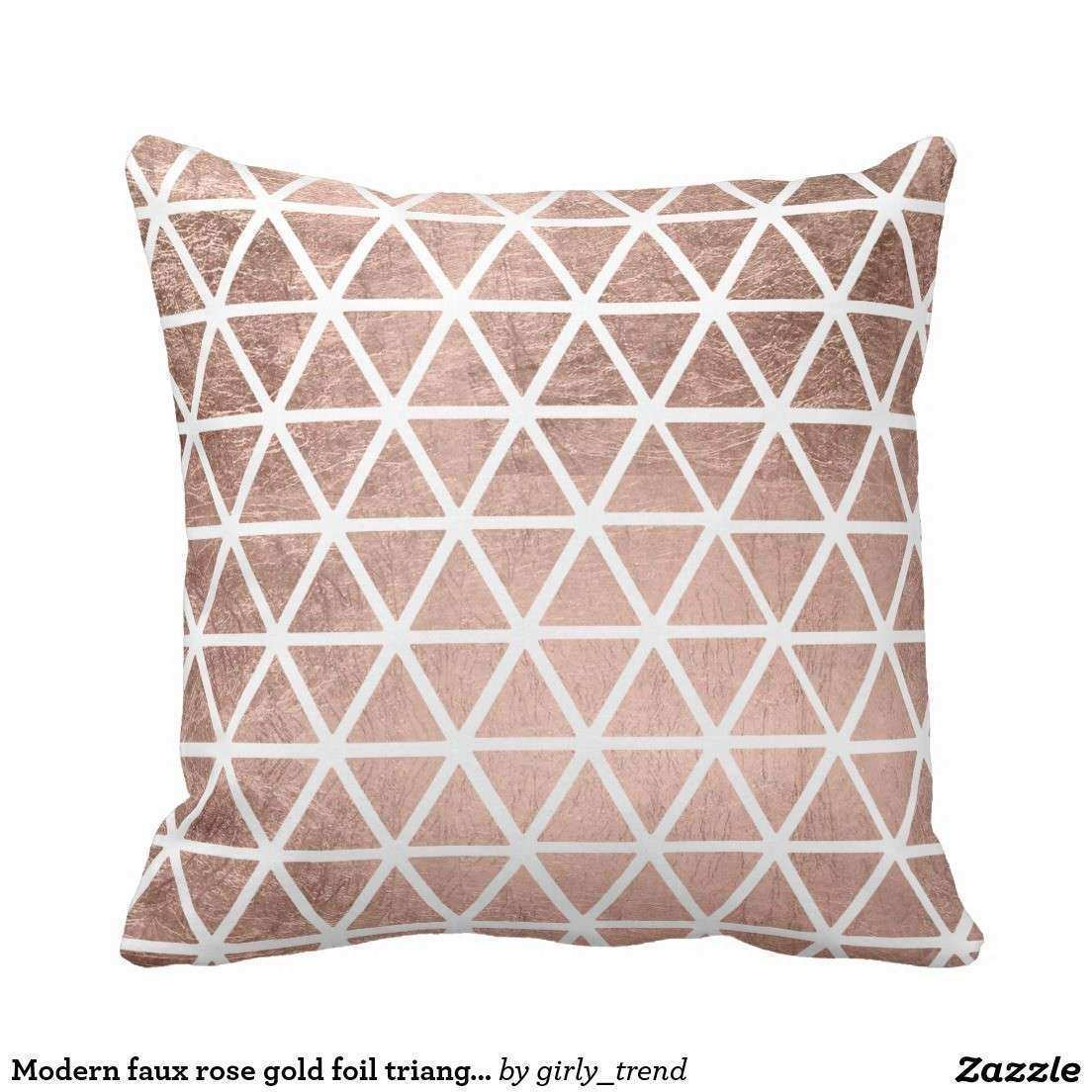 Faux Rose Gold Print Faux Copper Wall Art Geometric