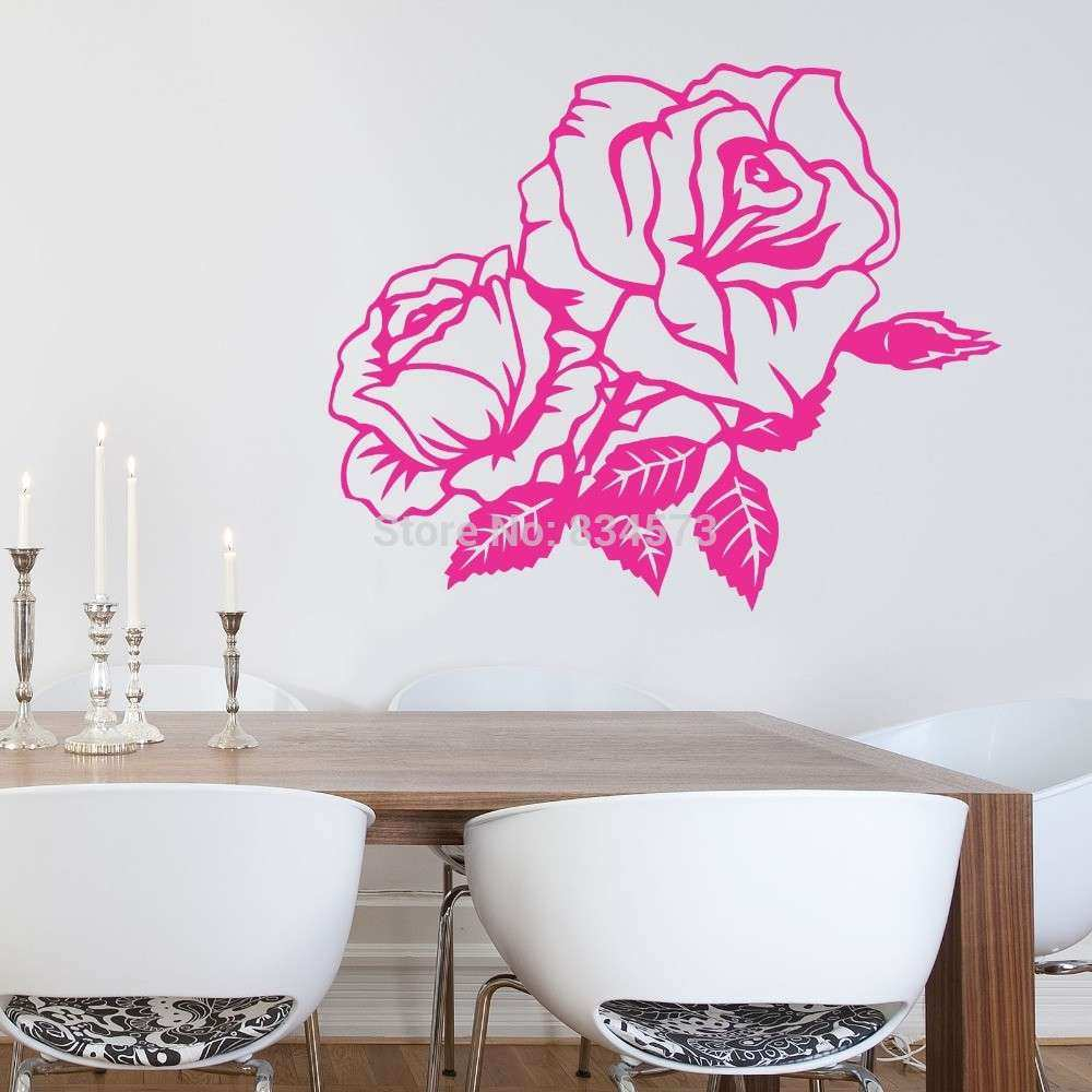 Rose Wall Decor Inspirational Aliexpress Buy Hot Beautiful Rose Flower Wall Art