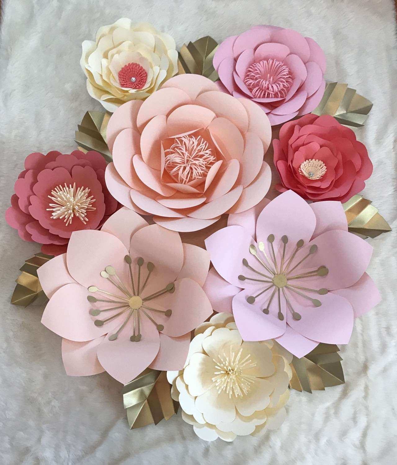 Rose Wall Decor Lovely Pleasing Rose Wall Decor Also Paper Flower Wall
