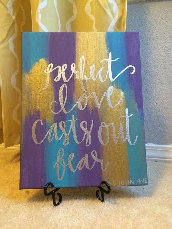 Items similar to Hand Lettered Bible Verse Canvas Painting