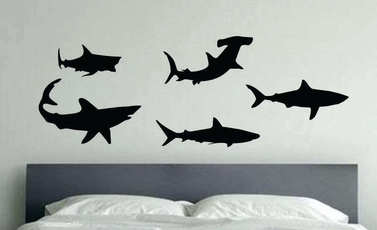 Shark Wall Decor Beautiful Sharks Wall Decals Kids Room Decor