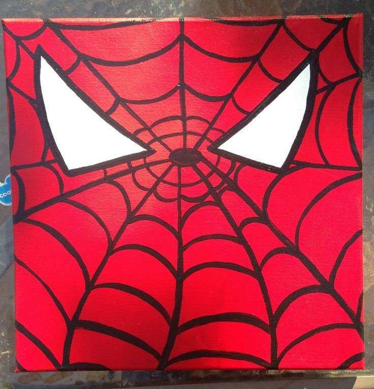 SpiderMan wall canvas by craftsbydaniellelee on Etsy $15