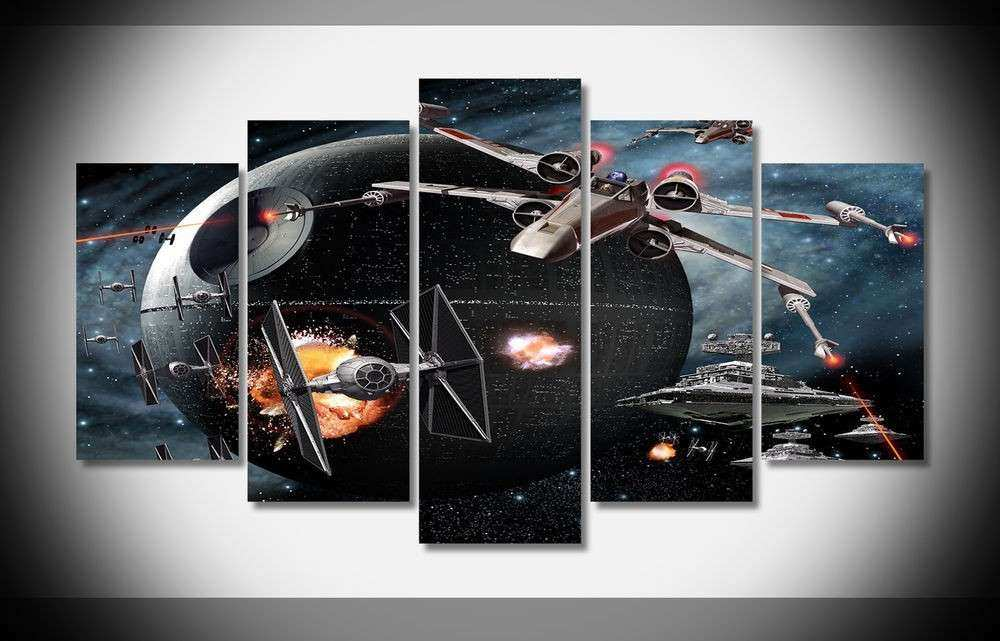 6528 star wars fighters Poster print on Canvas
