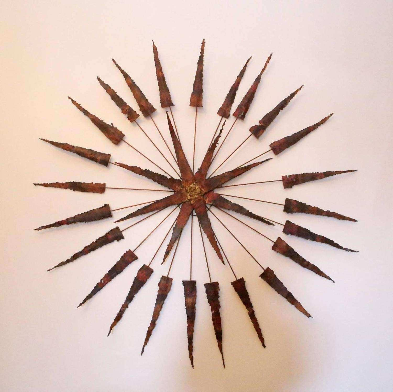 Starburst Wall Art Awesome Starburst Metal Wall Sculpture For Sale At  1stdibs