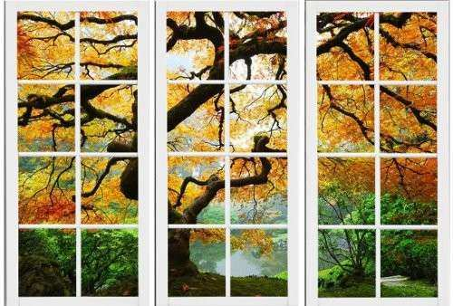 Startonight Canvas Wall Art Maple At Window Windows USA