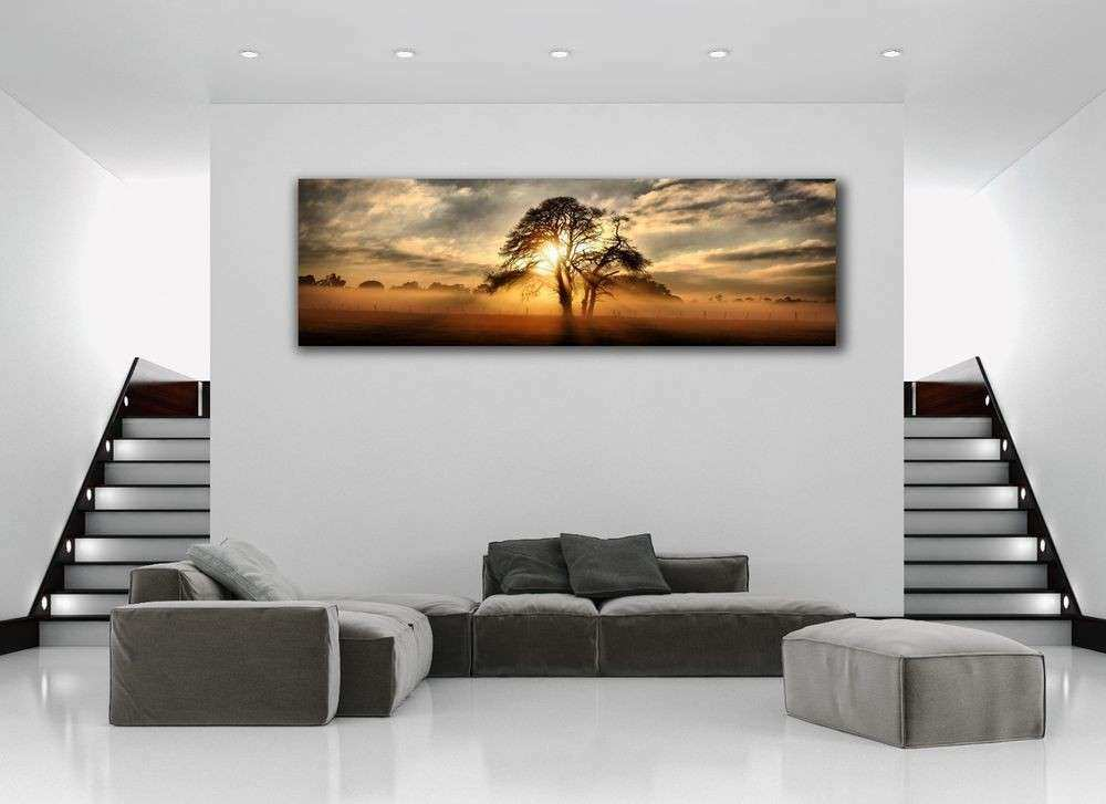 Beautiful Sunset on the Range Panoramic Picture Canvas