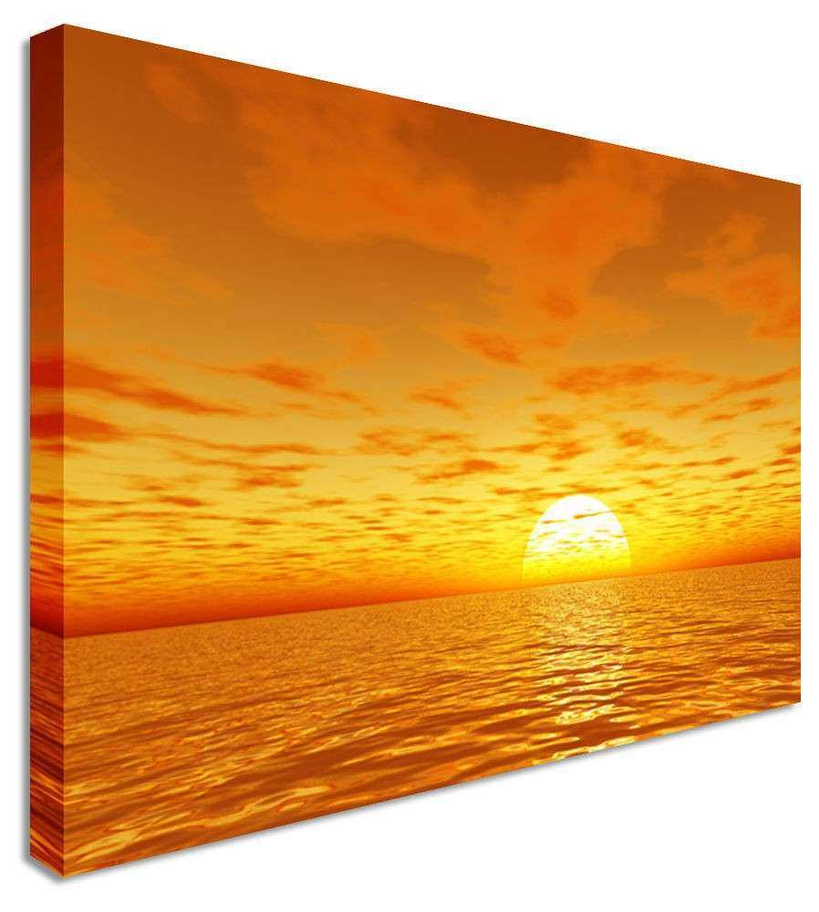 Sunset Canvas Wall Art New Sunset Seascape orange Rise Canvas Wall ...