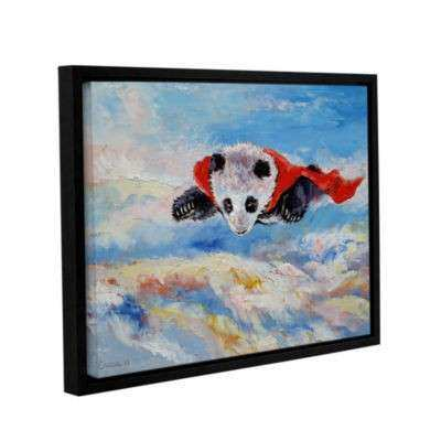 Brushstone Panda Superhero Gallery Wrapped Floater Framed