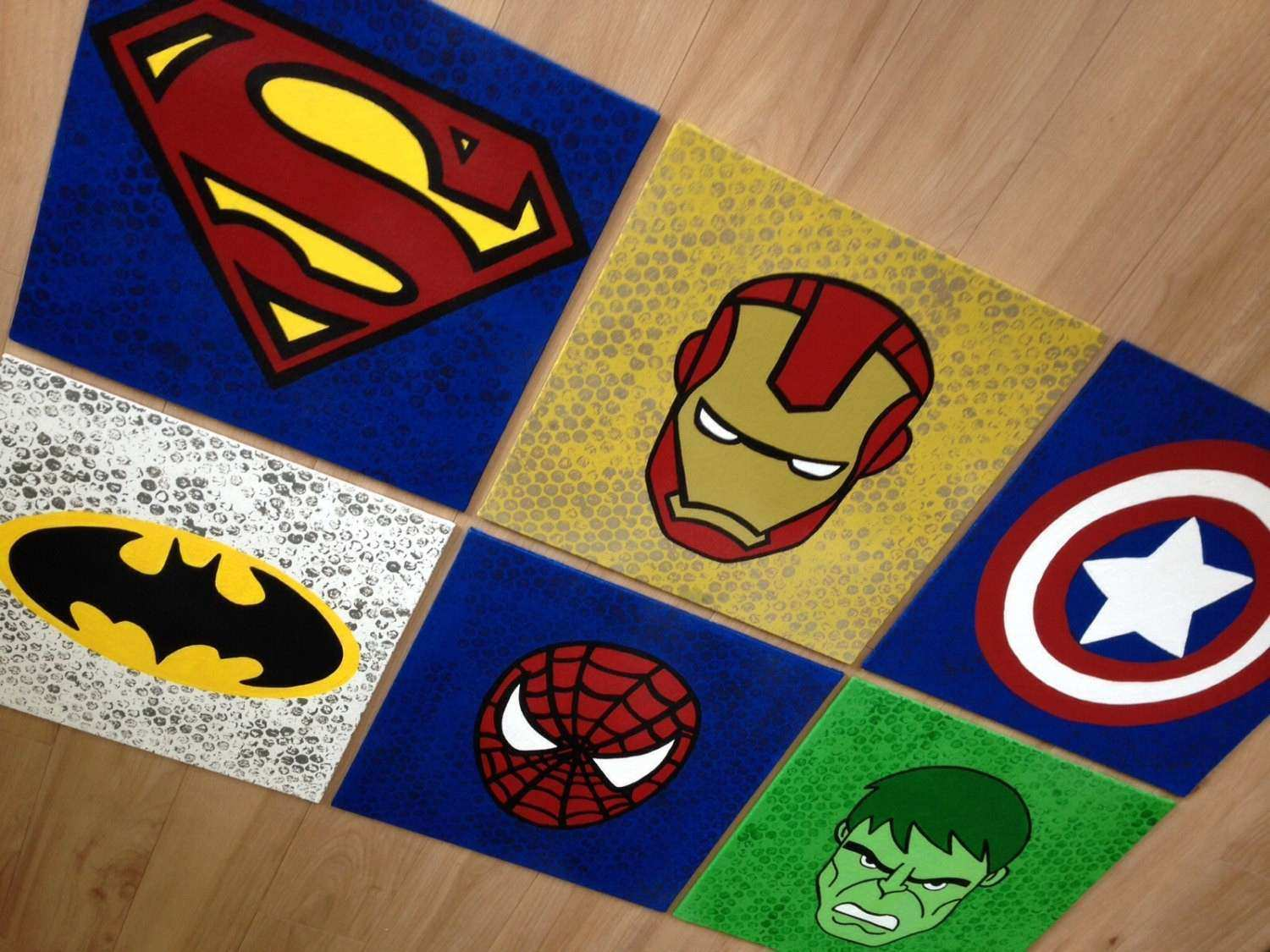 Superhero Canvas Super hero wall art handpainted by by
