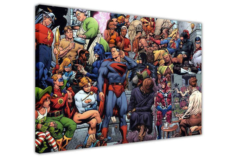 CANVAS WALL ART PRINTS DC ICS JUSTICE LEAGUE PHOTO