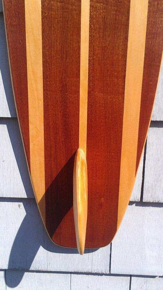 Surfboard Wall Hanging Art Vintage Surfing Decor Old