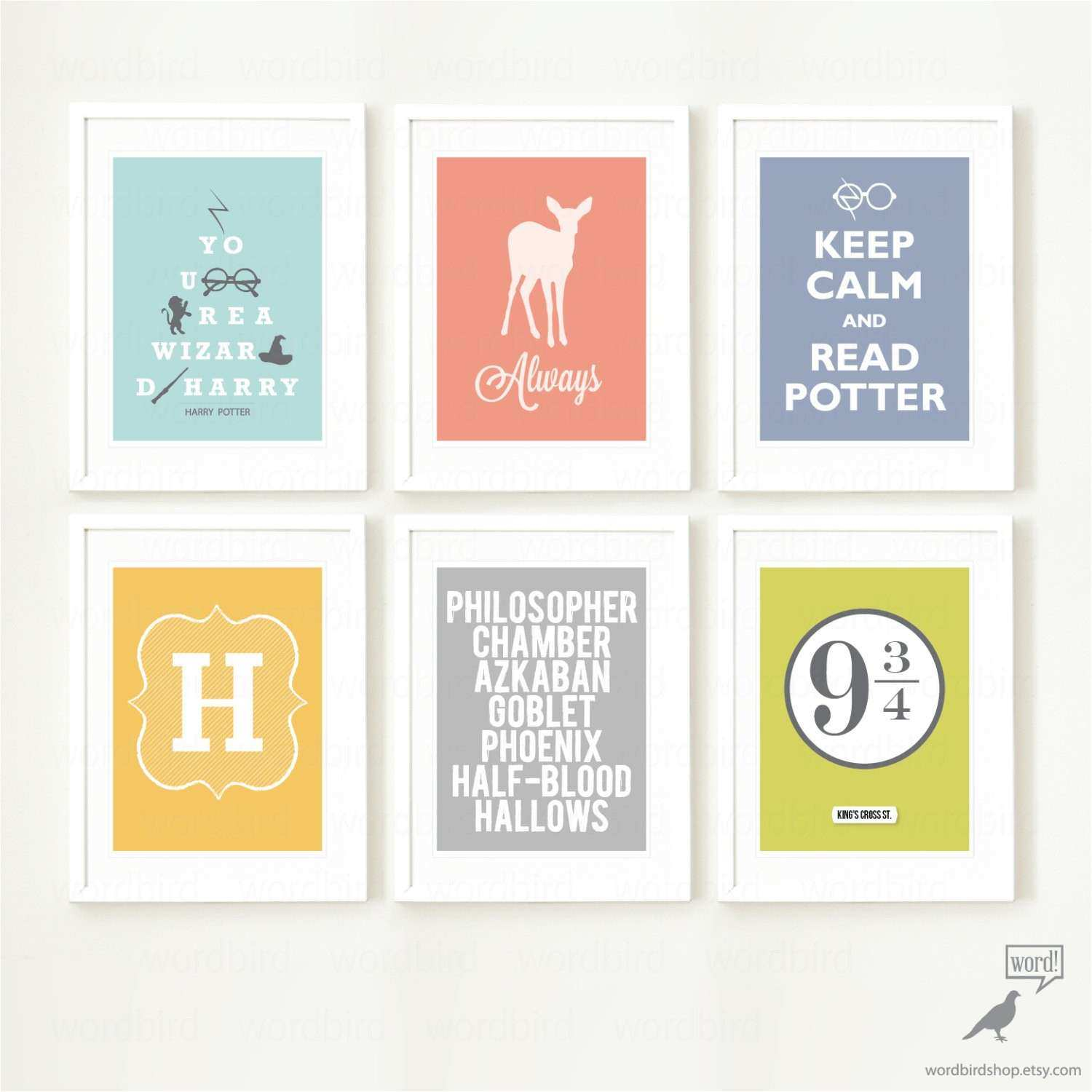 Teen Wall Art Awesome Harry Potter 6 Print Poster Collection Teen Bedroom Wall