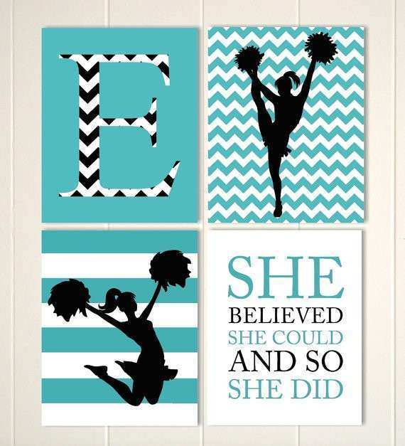 Teen Wall Art Luxury Cheerleader Wall Art Girls Room Cheer Decor by