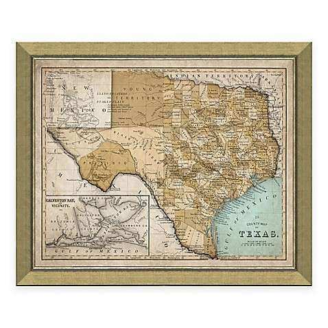 Texas Wall Art Unique Buy Framed Map Of Texas Wall Décor From Bed ...