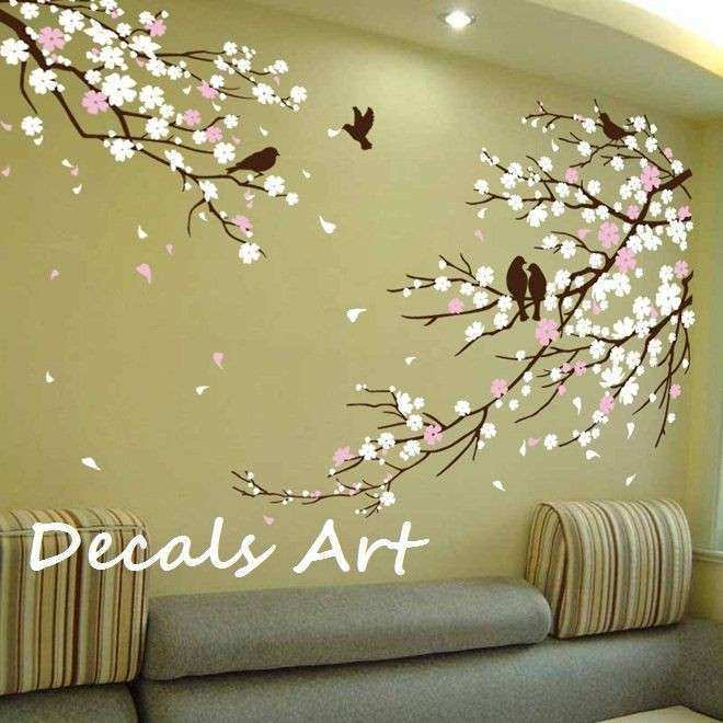 Cherry Blossom Branches with Birds Vinyl wall sticker