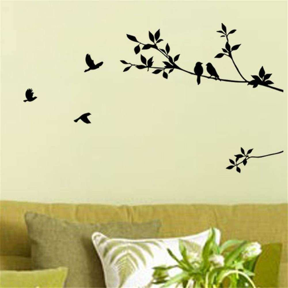 Tree Branch and Birds DIY Removable Wall Decal for Living