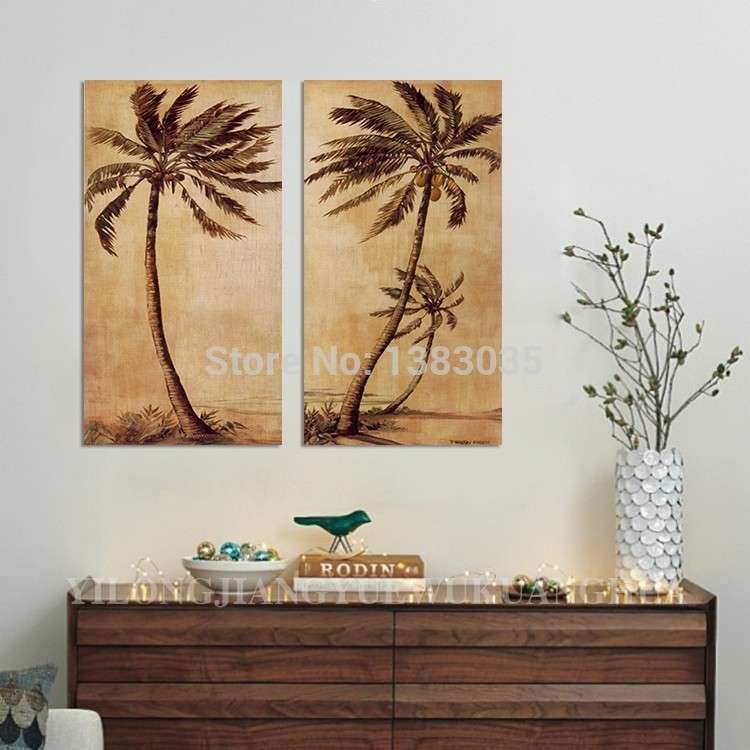 Wall Art Designs Palm Tree Wall Art Hand Painted Abstract