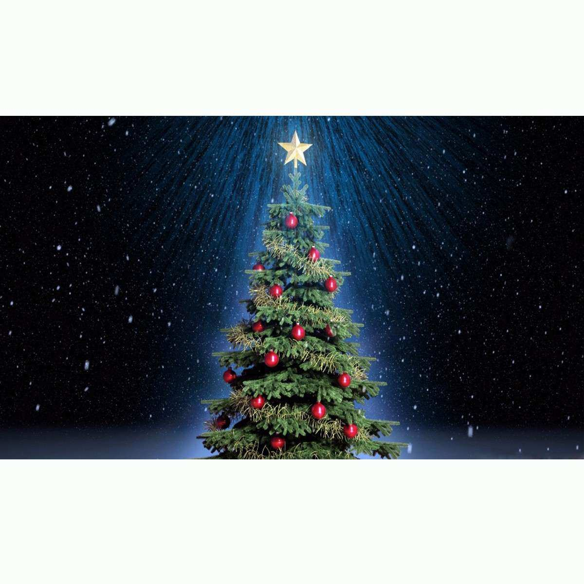 Christmas Tree Decoration Canvas Wall Art Picture Fibre