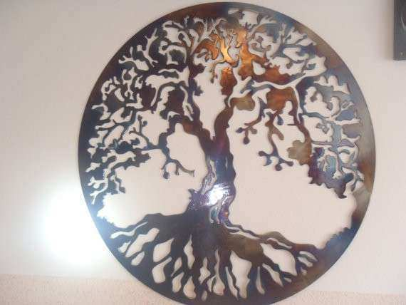 Tree Of Life Metal Wall Art Large New Tree Life Metal Wall Decor Metal Art  Heat