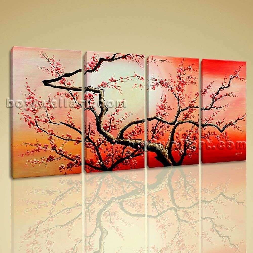 Huge Modern Abstract Painting Canvas Wall Art Print