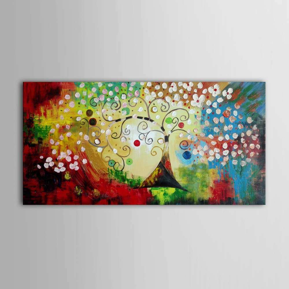 iarts colorful christmas tree wall art canvas home decor