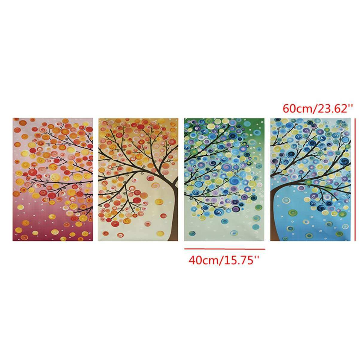 Modern Abstract Tree Flowers Poster Art Canvas Prints