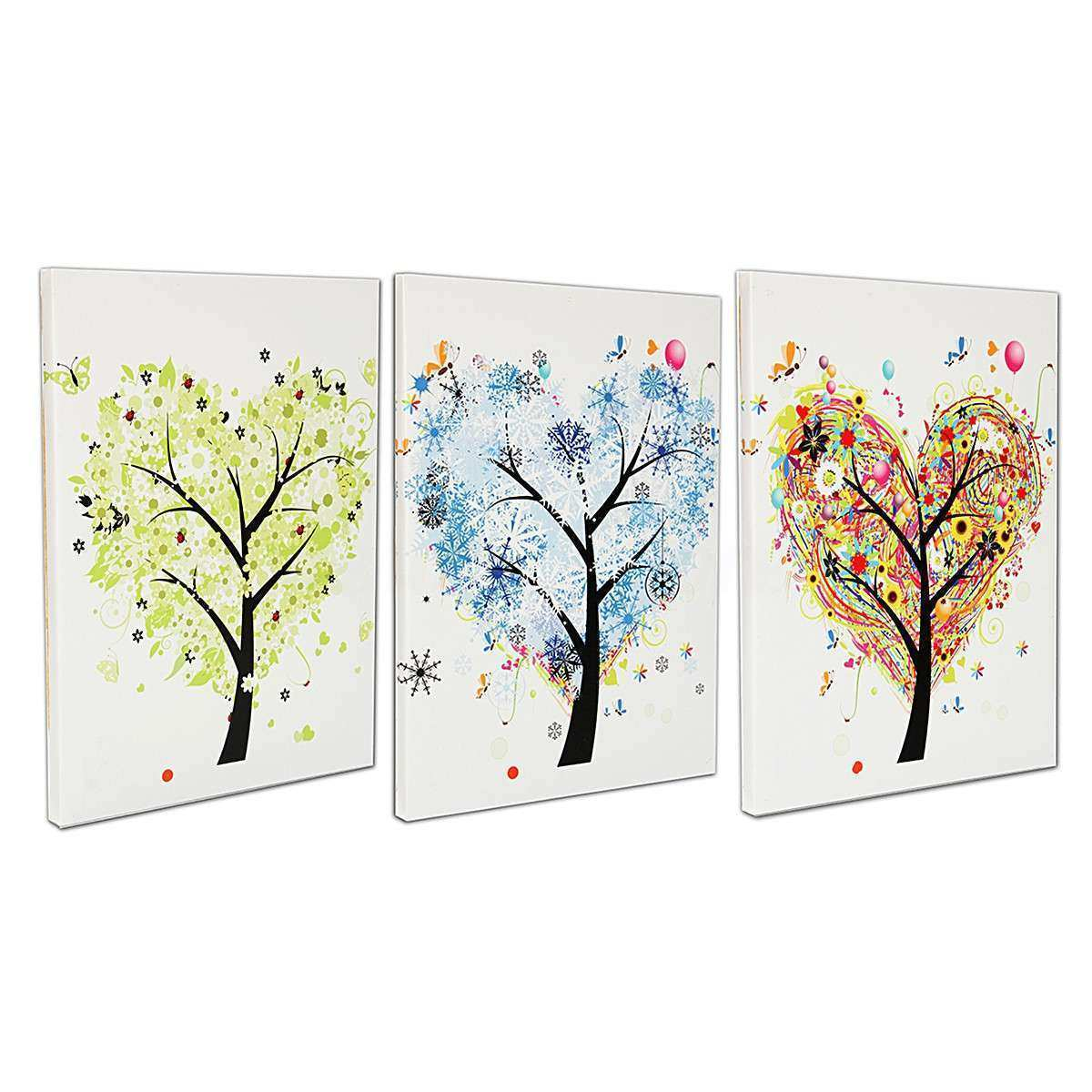 40x30cm LED Luminous Tree Lighted Canvas Painting Art Wall