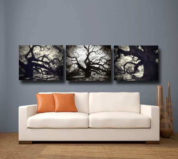 Items similar to Tree graphy Black & White Canvas Art