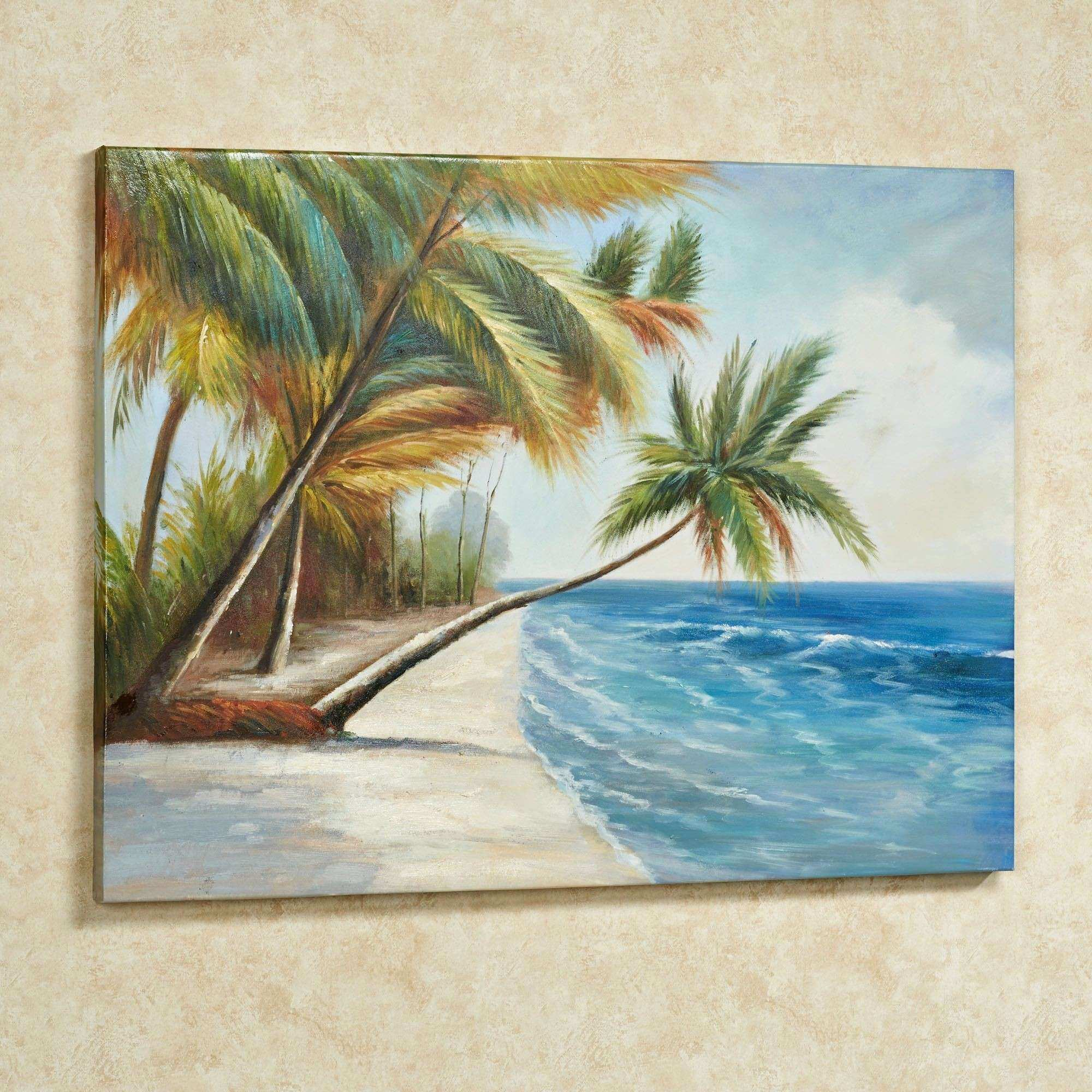 Trees Canvas Wall Art Luxury Leaning Palms Palm Tree Canvas Wall Art