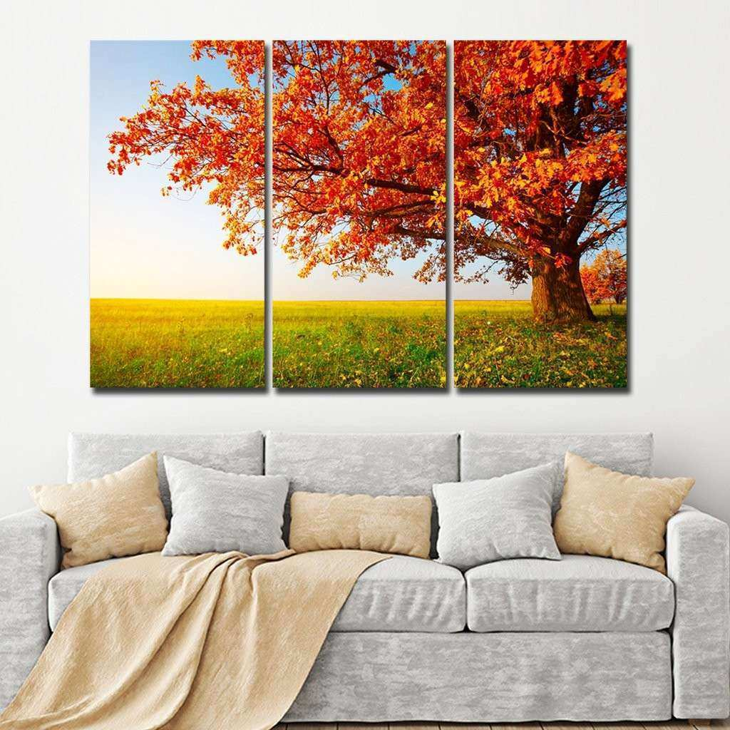 Oak Tree Multi Panel Canvas Wall Art