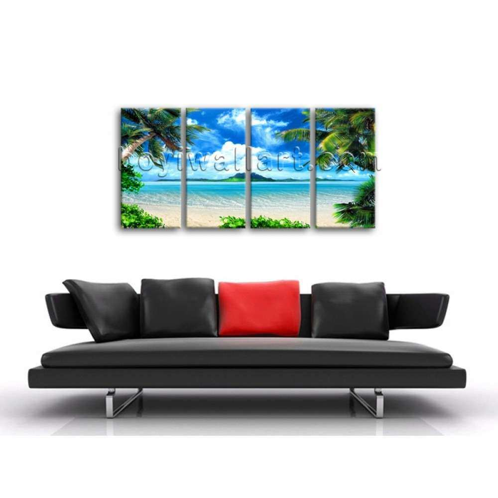 Tropical Beac Landscape Contemporary Canvas Print