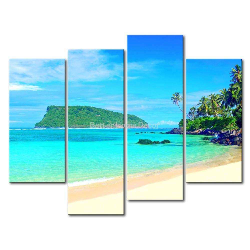 Tropical Wall Art Canvas best ocean canvas wall art