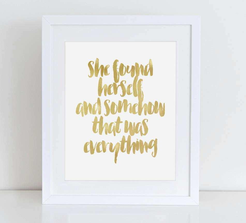Taylor Swift Quote Gold Foil Prints Lyrics by