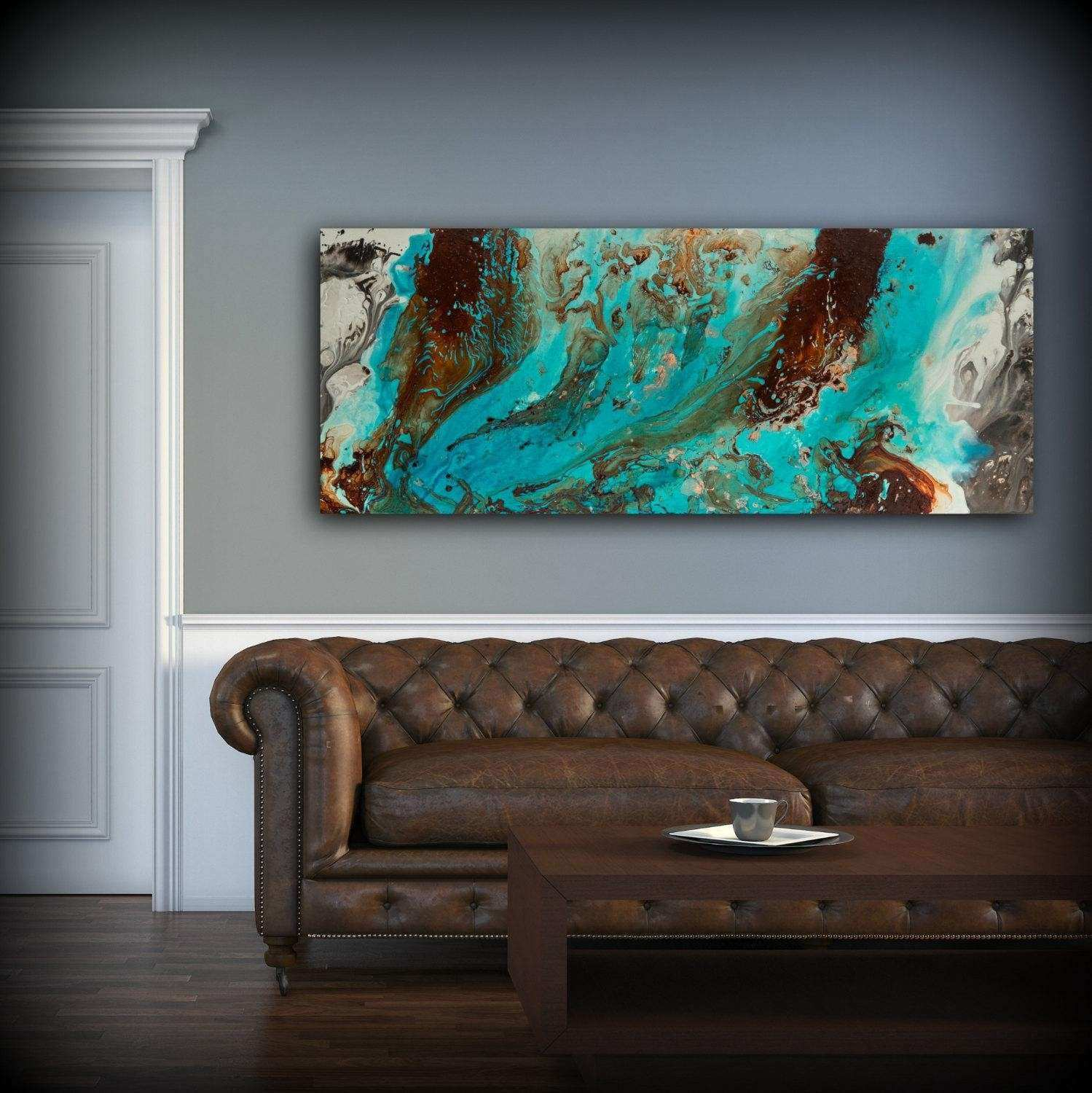 20 Top Brown and Turquoise Wall Art