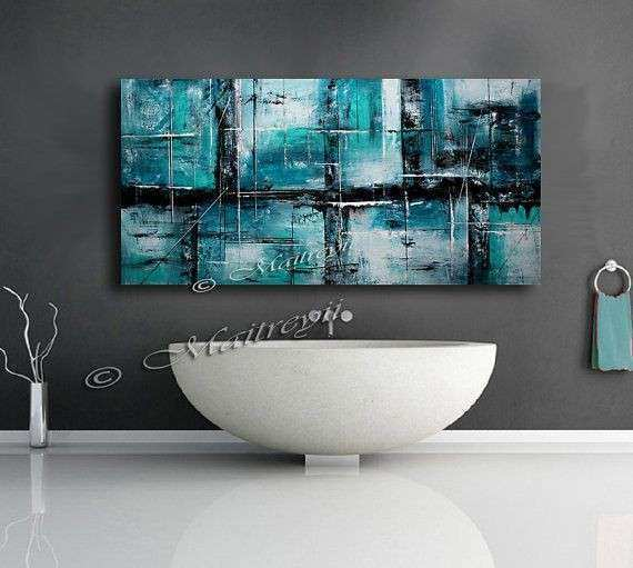 Hand Made Acrylic Painting Canvas Abstract