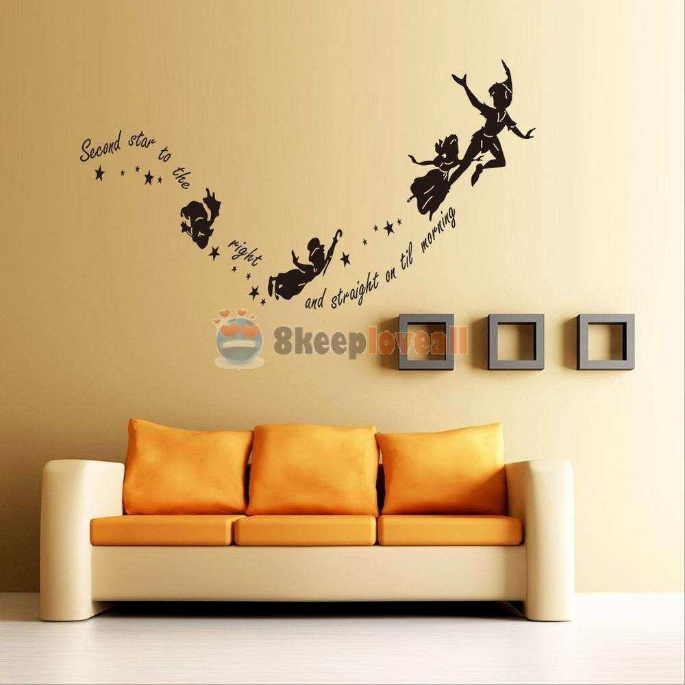 Vynal Wall Decor Inspirational Tinkerbell Star Peter Pan Wall Decal ...